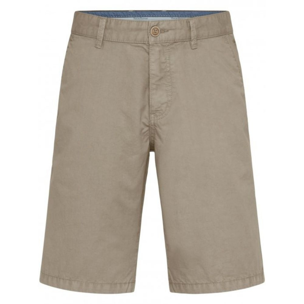 FYNCH HATTON Casual Fit Pure Cotton Shorts in Beige front