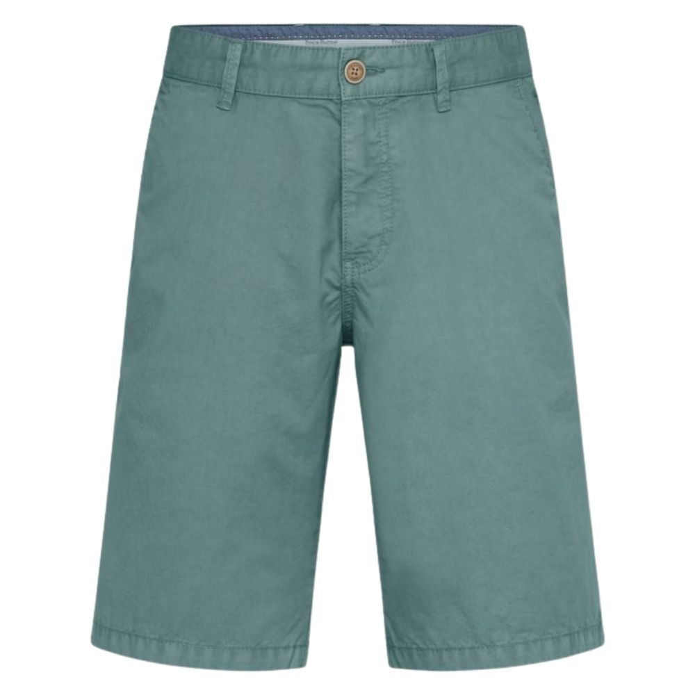 FYNCH HATTON Casual Fit Pure Cotton Shorts in Peppermint front
