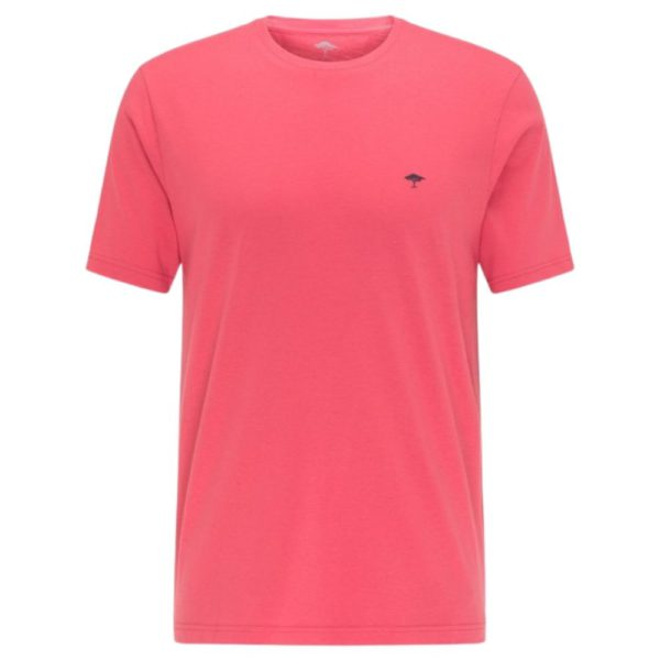 Fynch Hatton Casual Fit Cotton T Shirt in Soft red front