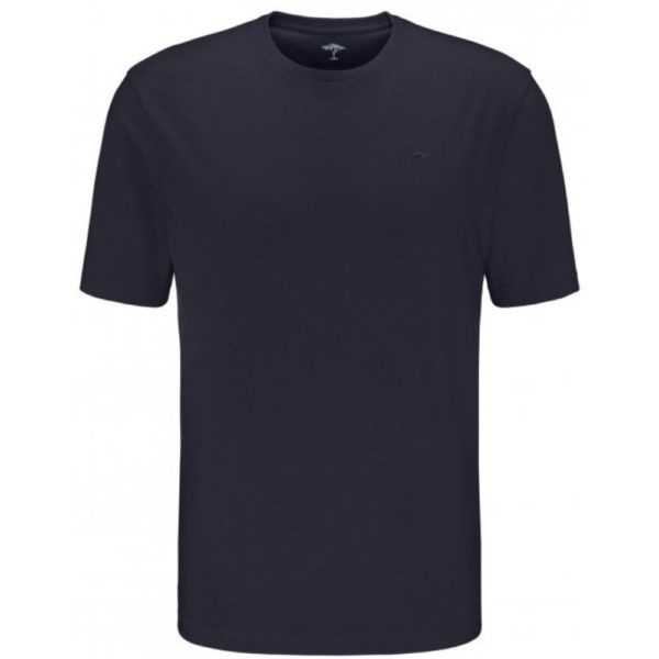 Fynch Hatton Casual Fit Cotton T Shirt in navy front