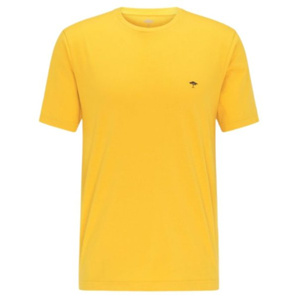 Fynch Hatton Casual Fit Cotton T Shirt in yellow Front