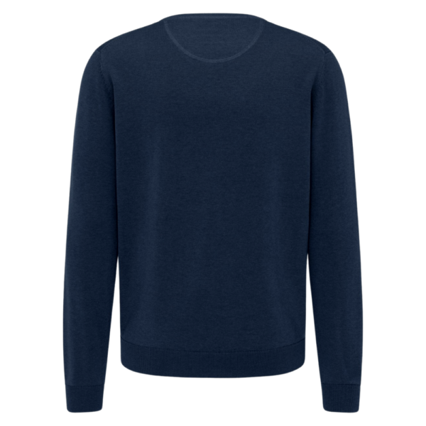 Fynch Hatton Casual Fit Crew Neck Sweater in Navy rear