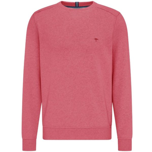 Fynch Hatton Casual Fit Organic Cotton Sweatshirt in Coral Front