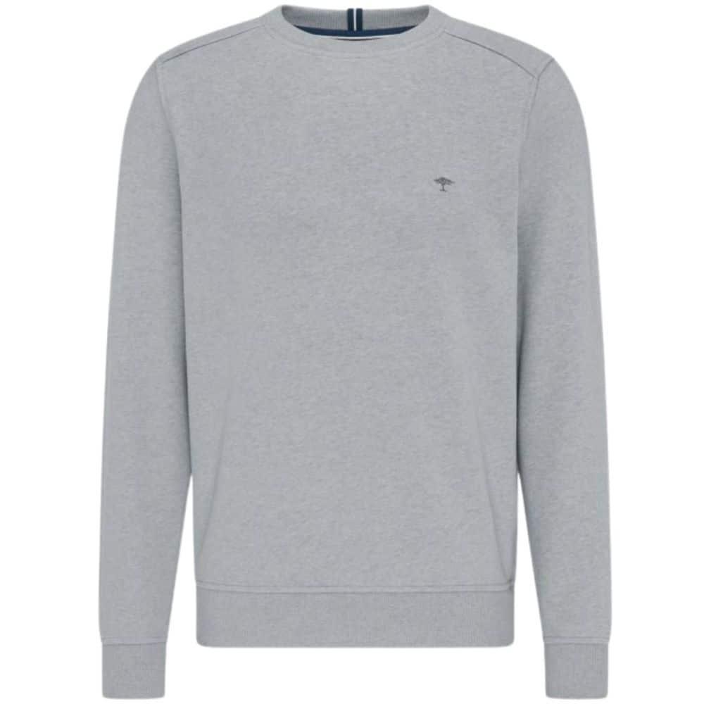 Fynch Hatton Casual Fit Organic Cotton Sweatshirt in grey front
