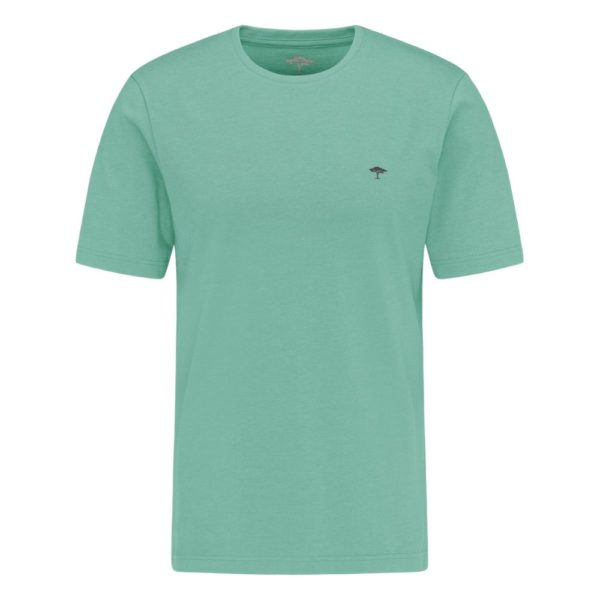 Fynch Hatton Casual fit t shirt made from an organic cotton mix in Peppermint front