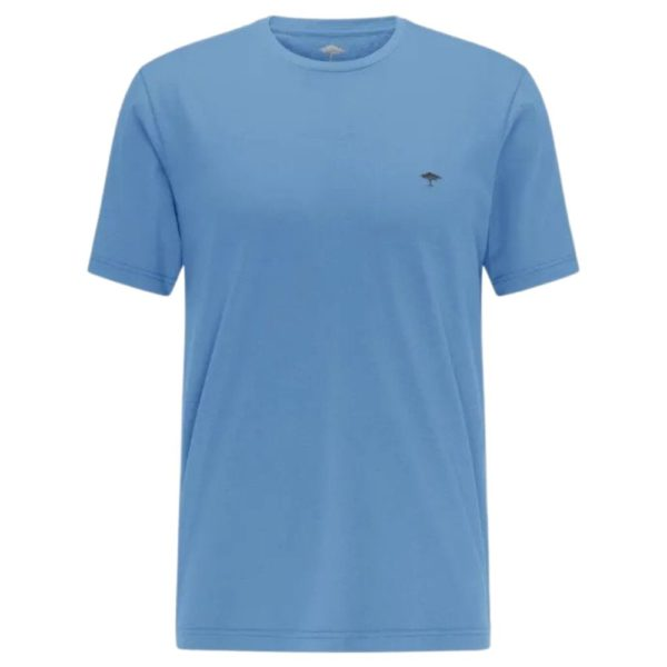 Fynch Hatton Casual fit t shirt made from an organic cotton mix in sky blue front