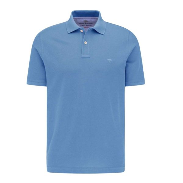 Fynch Hatton Polo shirt in Sky Blue Front