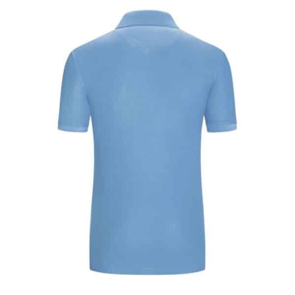 Fynch Hatton Polo shirt in Sky Blue Rear