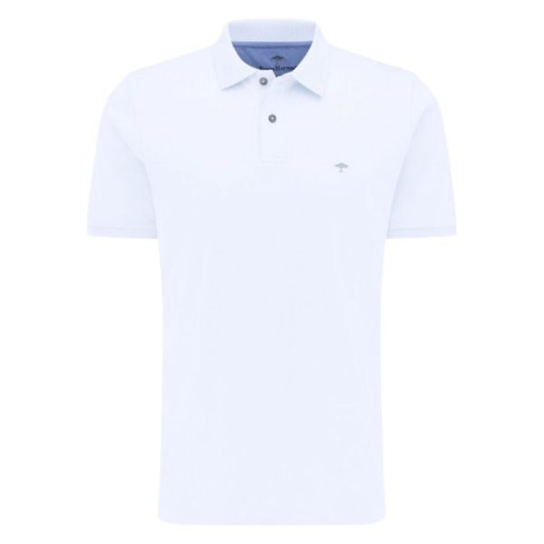Fynch Hatton Polo shirt in white Front