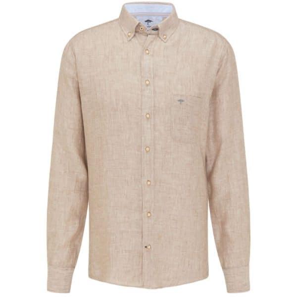 Fynch hatton Super soft linen shirt in Sand 2