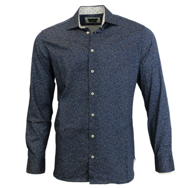 Giordano shirt blue with white dots