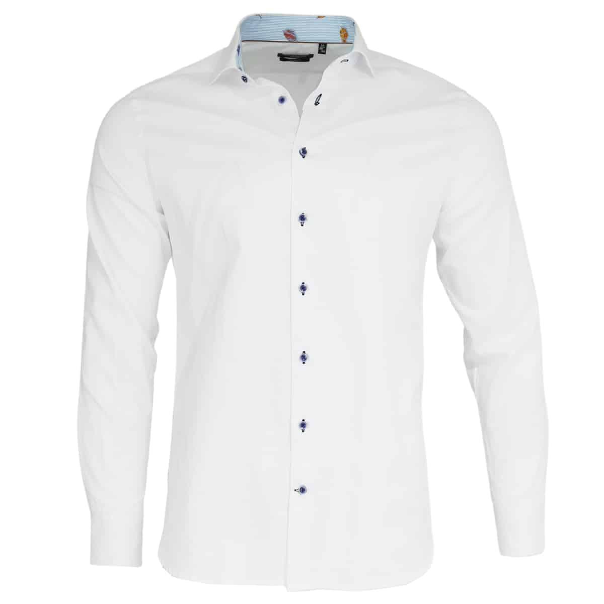 Giordano white shirt stripe pattern