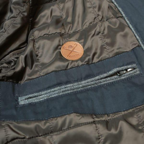 Hacket navy winter jacket lining