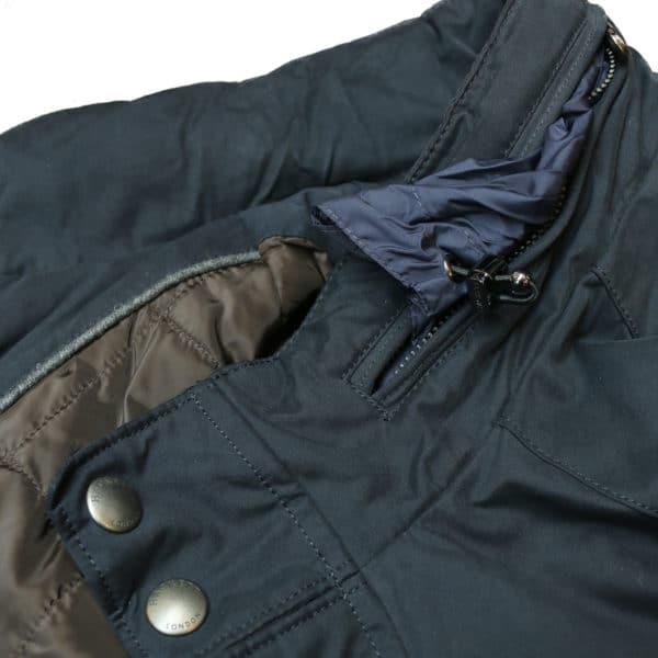 Hackett aston martin jacket collar detail