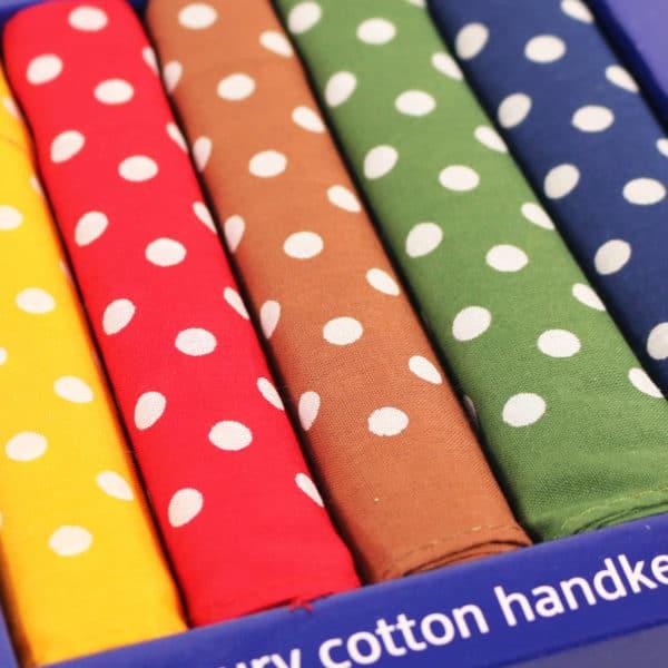 Luxury cotton handkerchiefs polka dot2