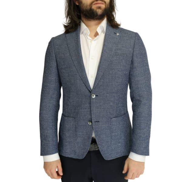 Roy Robson jacket micro pattern blue