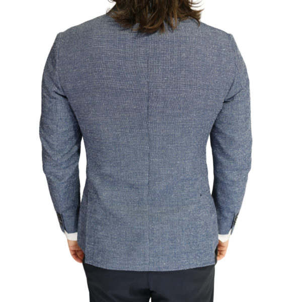 Roy Robson jacket micro pattern blue back