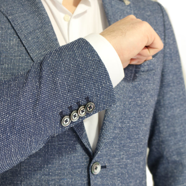 Roy Robson jacket micro pattern blue button