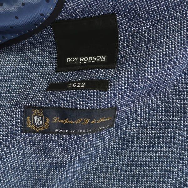 Roy Robson jacket micro pattern blue lining