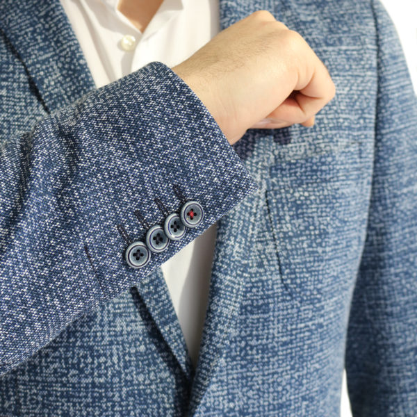Roy Robson jacket speckled navy buttons