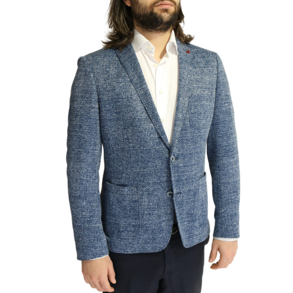 Roy Robson jacket speckled navy side