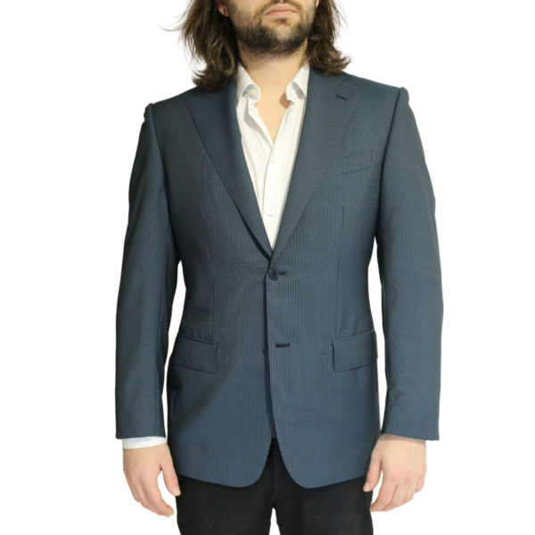 Vitale Barberis jacket stripe charcoal