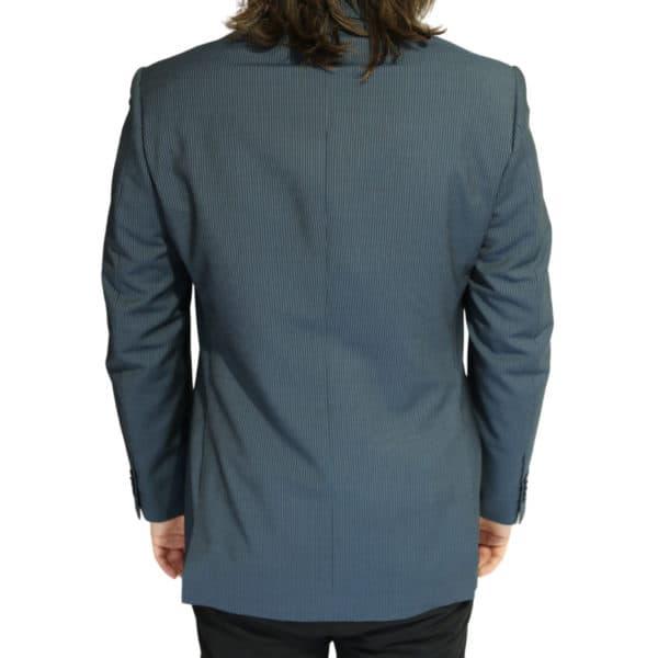 Vitale Barberis jacket stripe charcoal back