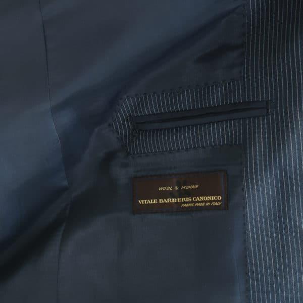 Vitale Barberis jacket stripe charcoal lining detail