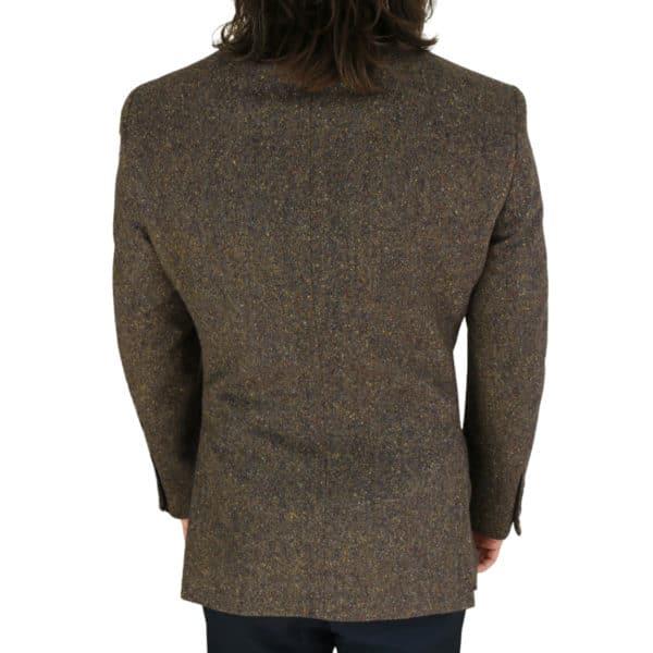 Warwicks brown tweed jacket back