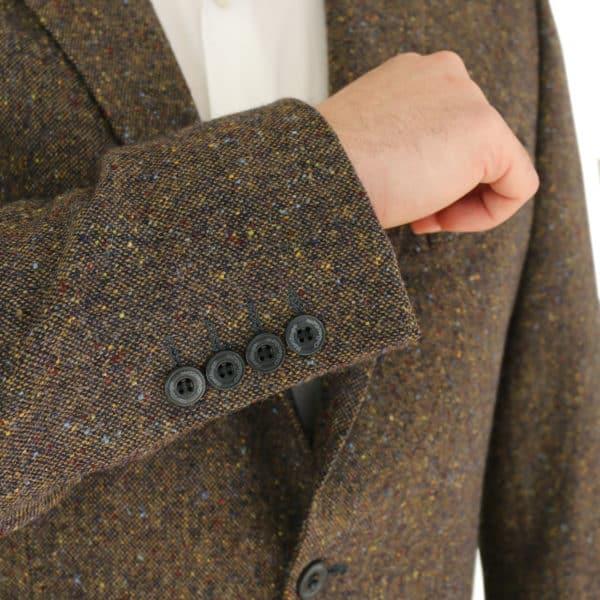Warwicks brown tweed jacket buttons