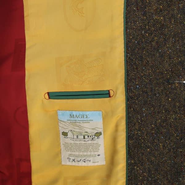 Warwicks brown tweed jacket lining