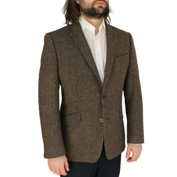 Warwicks brown tweed jacket side