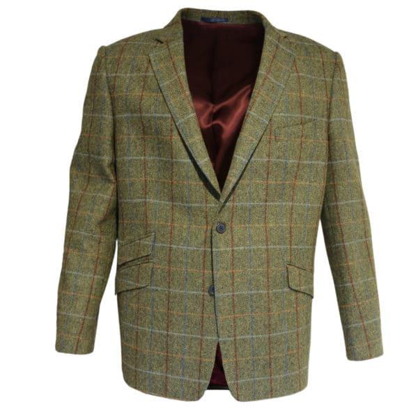 Warwicks green herringbone jacket