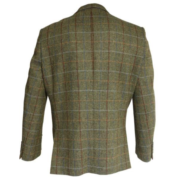 Warwicks green herringbone jacket back
