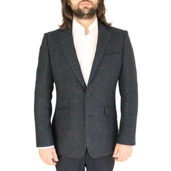 Warwicks navy windowpane jacket