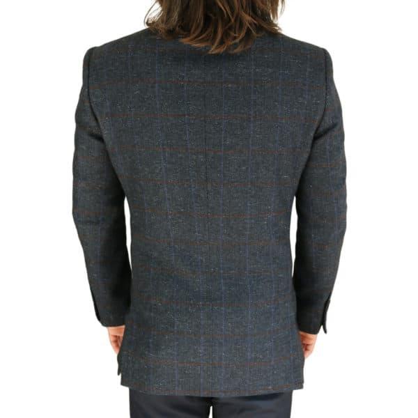 Warwicks navy windowpane jacket back