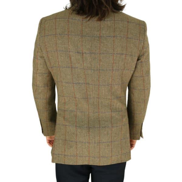 Warwicks tan windowpane jacket back