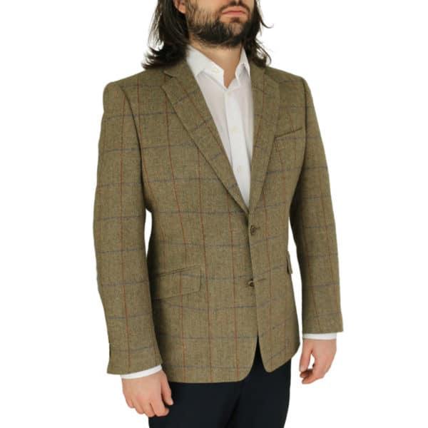 Warwicks tan windowpane jacket side