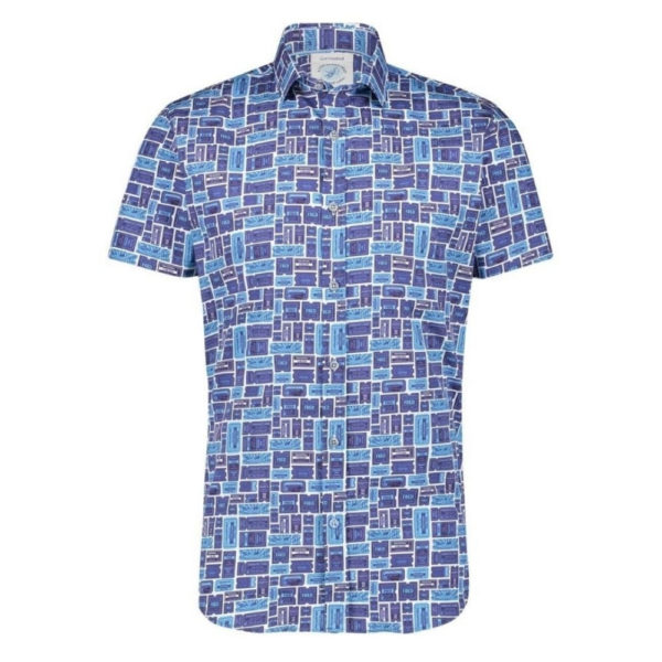 A FISH NAMED FRED TICKET SHIRT BLUE