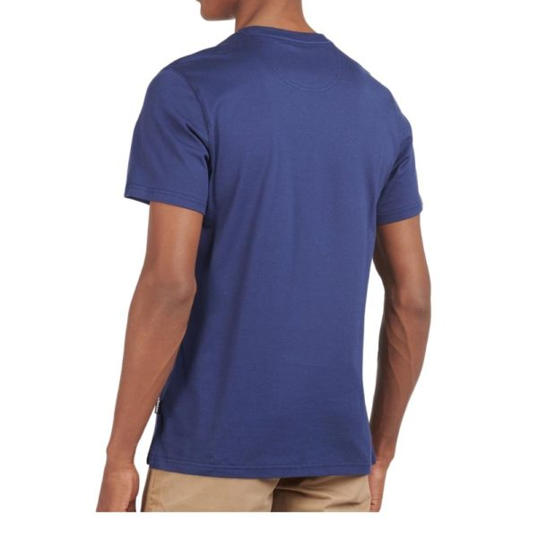 BARBOUR BRYCE T SHIRT in Blue rear