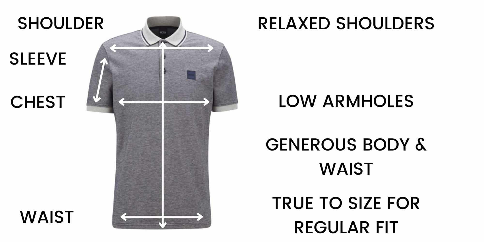 Boss Polo Regular Fit Size Chart