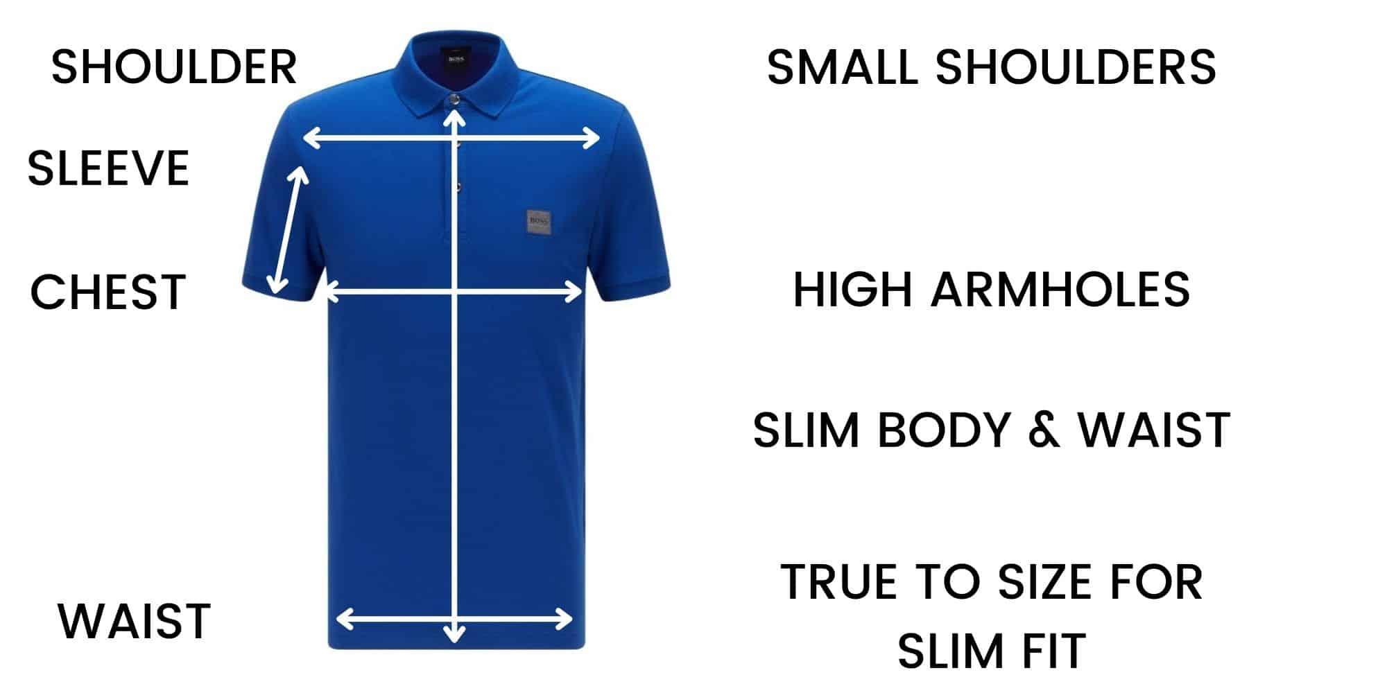 Boss Polo Slim Fit Size Chart