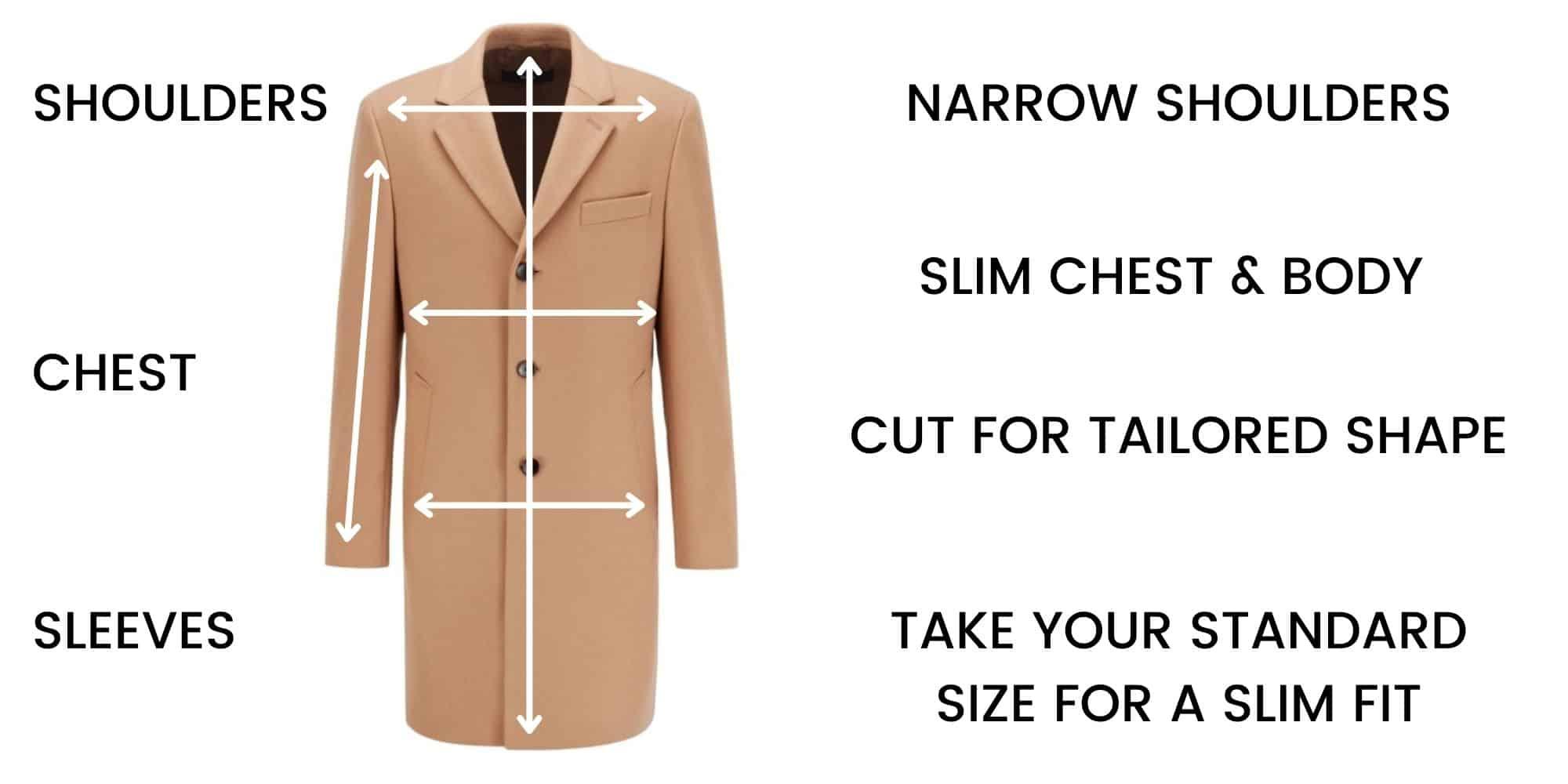 Boss Overcoats Size Guide