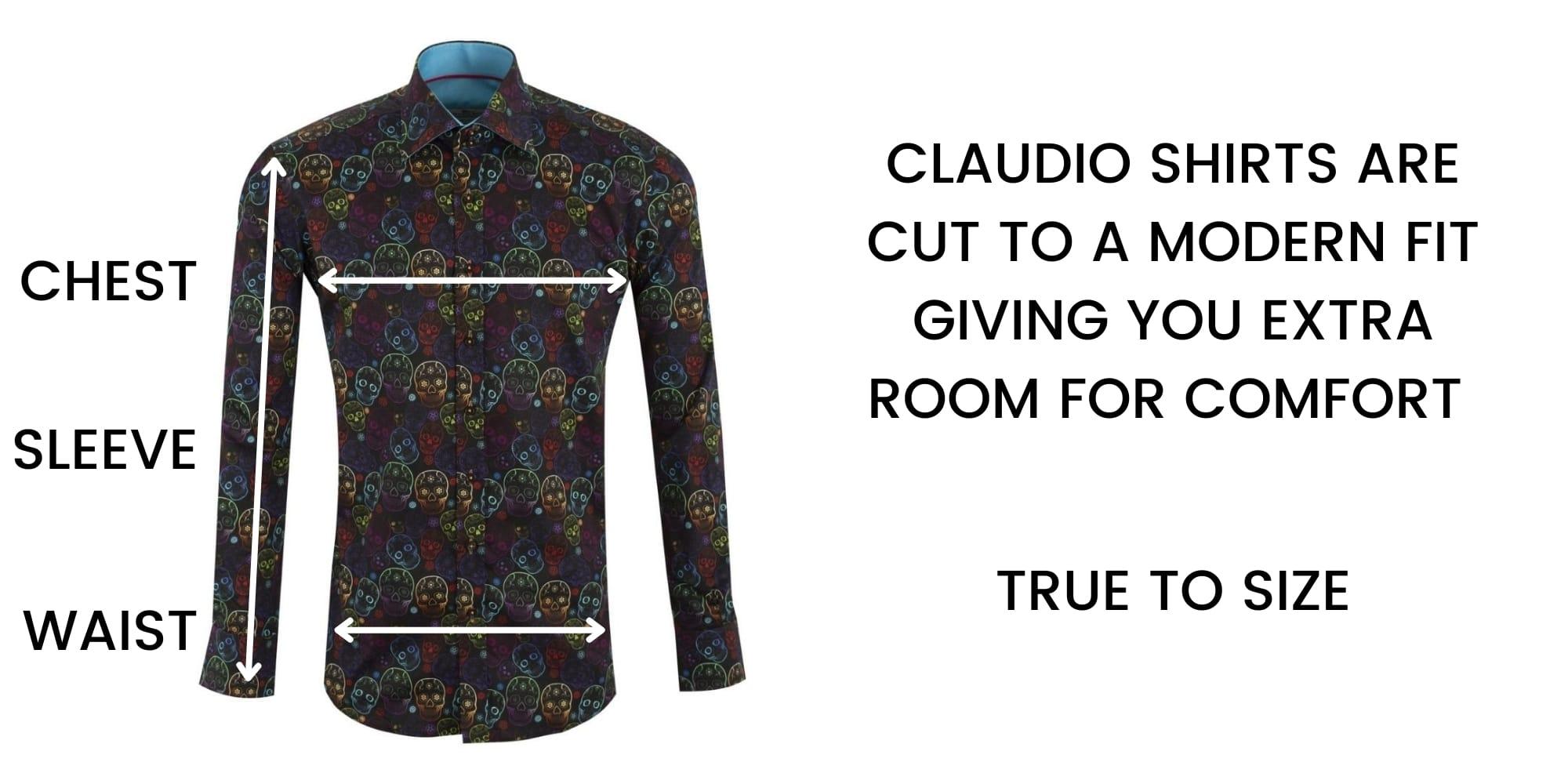 CLAUDIO LUGLI SHIRT SIZE CHART