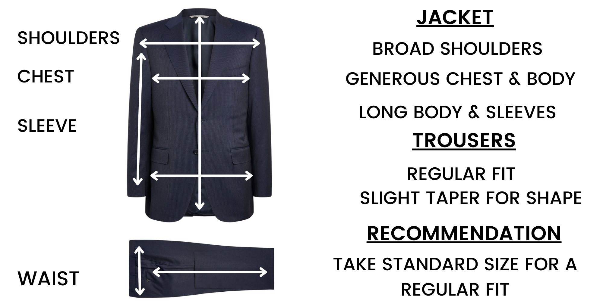 Canali Suit Size Guide – Contemporary fit
