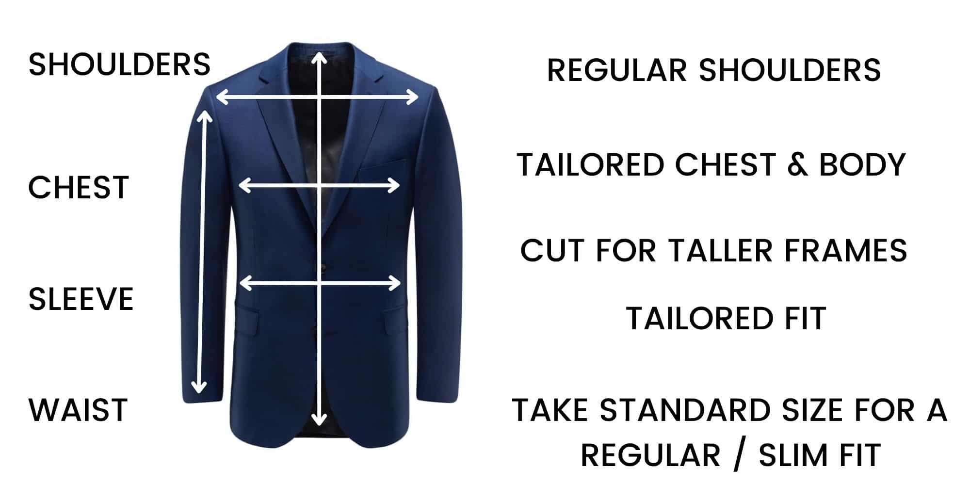 Eduard Dressler Jackets – Size Chart