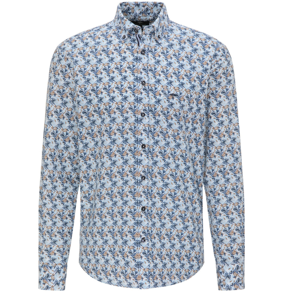 Fynch Hatton Casual Fit Tropical Print Shirt FRONT