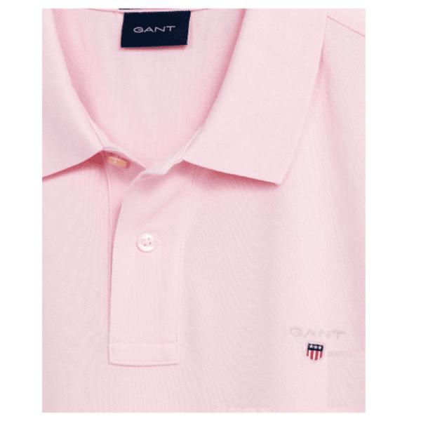 GANT Original Pique Polo Shirt Pink side