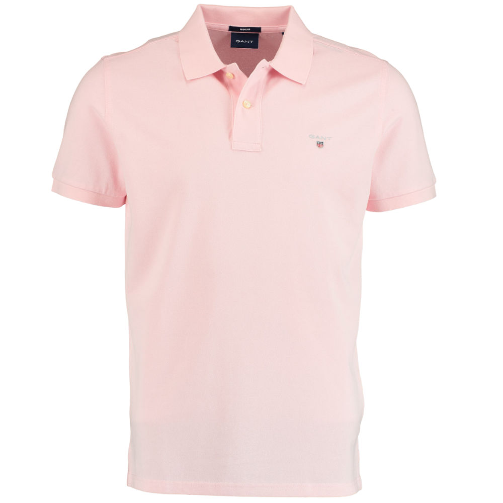 GANT POLO SHIRT PINK FRONT