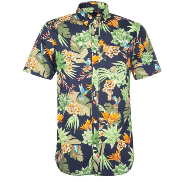GANT Regular Fit Short Sleeve Humming Garden Print Shirt Front